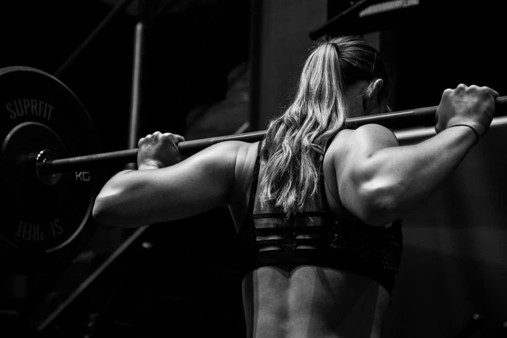Woman on barbell