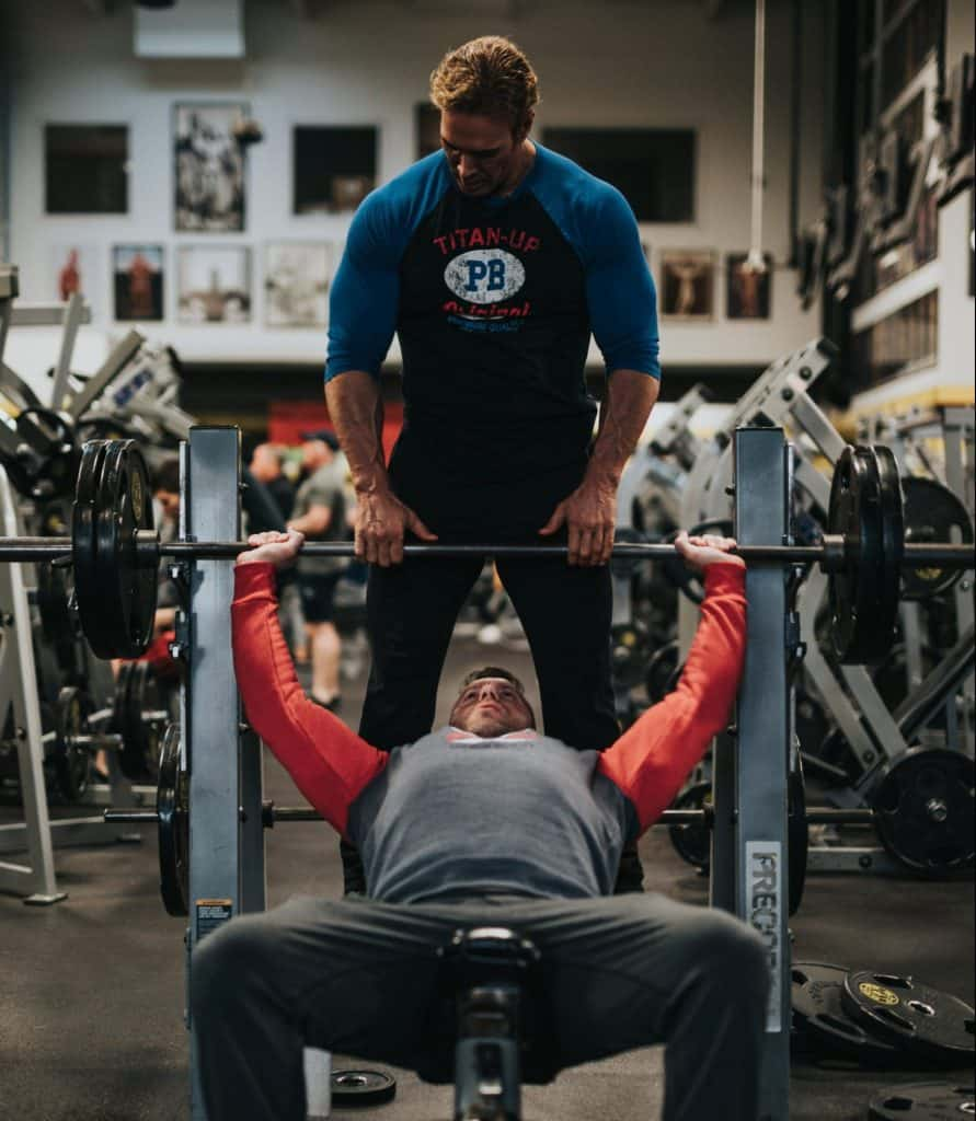 Spotter on bench press